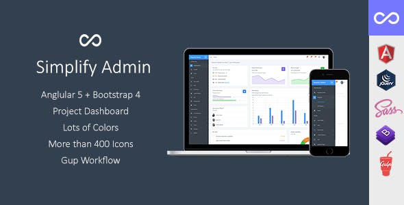 Timeline html admin website templates from themeforest simplify admin bootstrap 4 dashboard template and ui kit for angular 5 or jquery malvernweather Choice Image