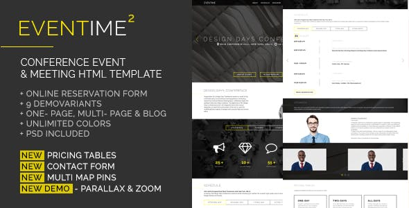 eventime conference event meeting html template
