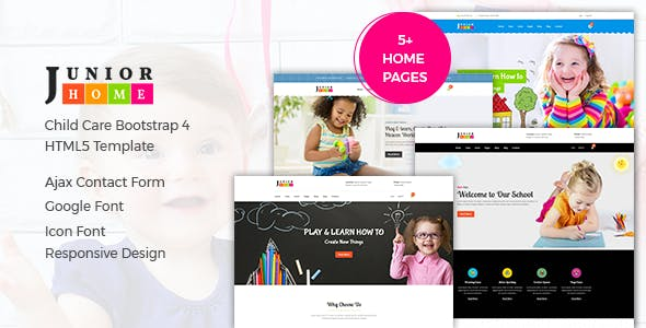 Juniorhome Day Care Kindergarten School Bootstrap4 Template