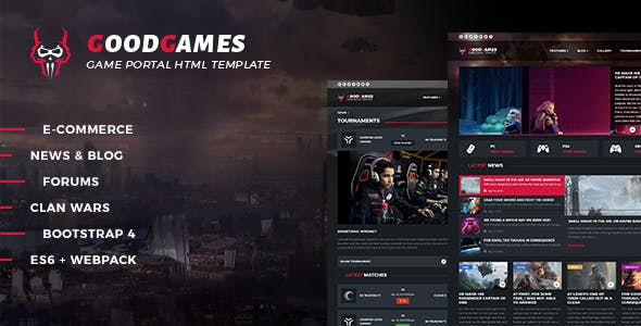 HTML Game Website Templates from ThemeForest