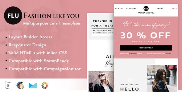 Fashion Template Thunderbird Email Templates From Themeforest