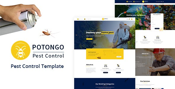 potongo pest control services html template