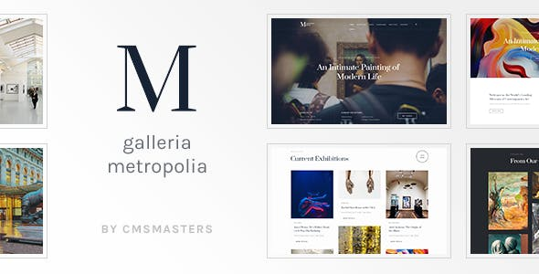 Exhibit Website Templates From ThemeForest - Art gallery website templates