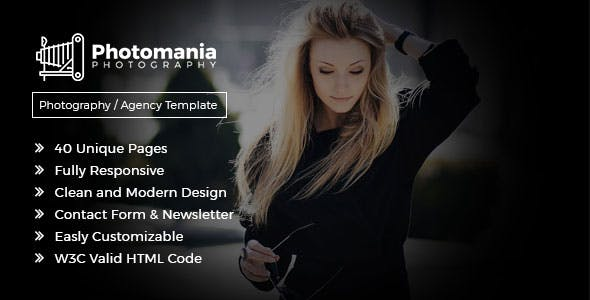 Designer HTML Photography Website Templates From ThemeForest - Photography website design templates