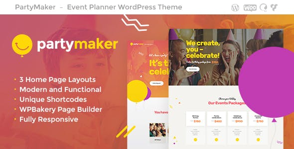 Event Planner Website Templates From ThemeForest