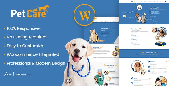 Petcare - Pet Shop and Pet Care WordPress Theme