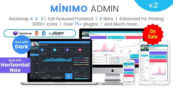 Minimo Pro - Responsive Bootstrap 4 Bootstrap 3 Admin Dashboard WebApp Template