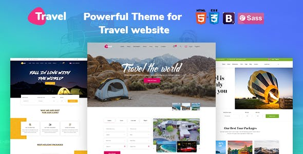 Html5 Html Travel Website Templates From Themeforest