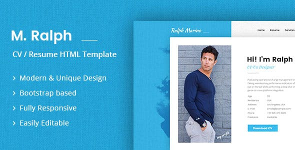 Responsive Vcard Templates from ThemeForest
