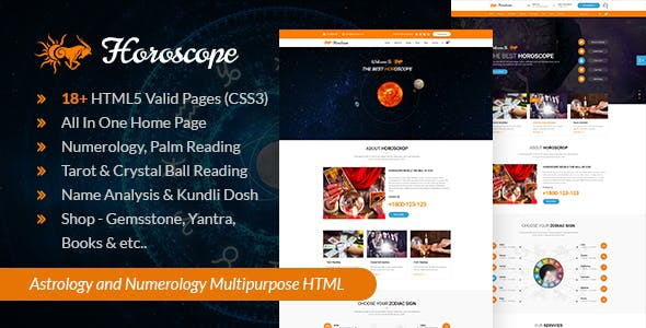 Astrology html website templates from themeforest horoscope all in one astrology and numerology html template maxwellsz