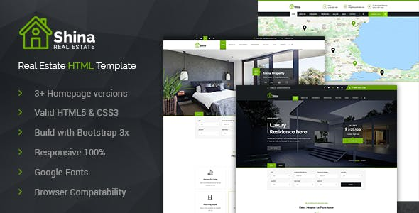 Real State Website Templates From ThemeForest - Web templates for sale