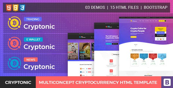 Cryptonic Cryptocurrency Html Template