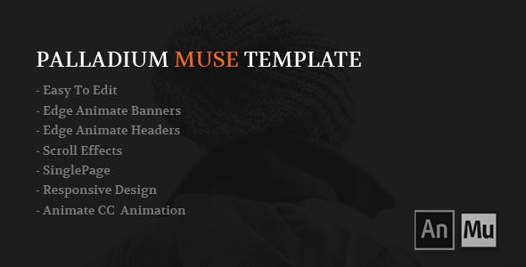 Edge animate templates from themeforest palladium muse template pronofoot35fo Image collections