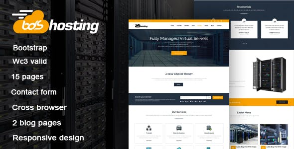 Web Hosting Landing Page Templates From ThemeForest