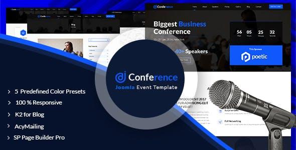 Joomla Event Templates from ThemeForest