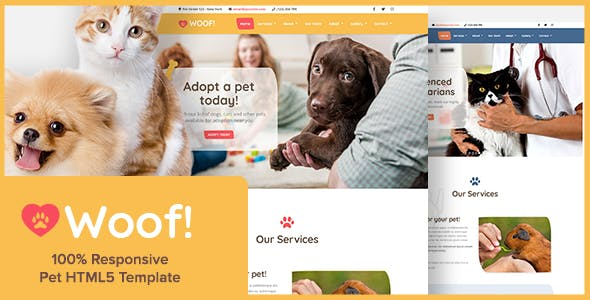 Dog Walking Website Templates Compatible With Bootstrap