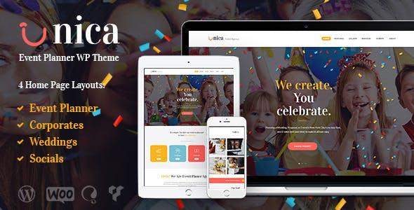 Unica - Event Planning Agency WordPress Theme