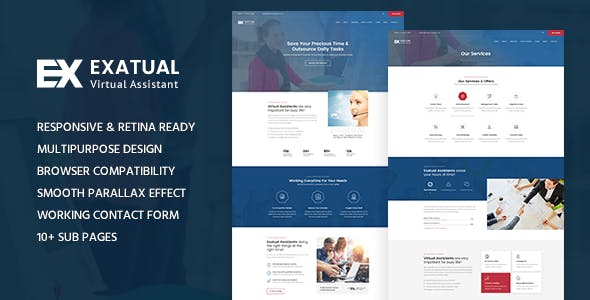 Exatual Virtual Assistant Html Template By Template Path Themeforest