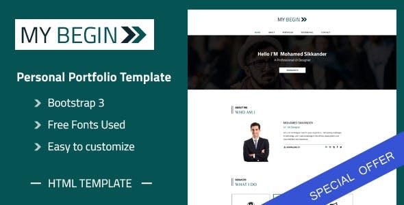 online portfolio templates from themeforest