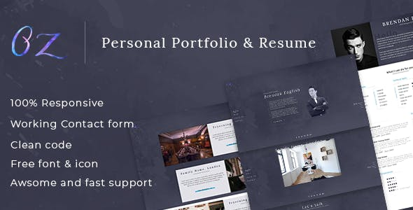 HTML Business Card Website Templates From ThemeForest - Virtual business card template