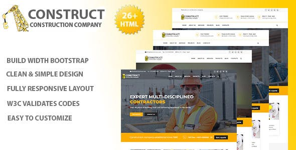 Carpet cleaning business website templates from themeforest construct construction company services fbccfo Image collections
