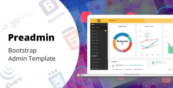 Preadmin - Bootstrap Admin Template