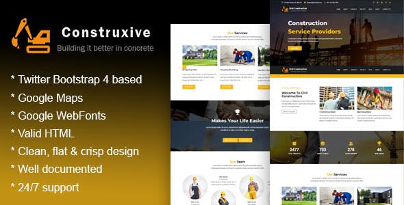 Building Materials Templates from ThemeForest