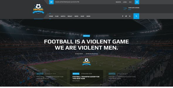 Player Profile Templates From ThemeForest