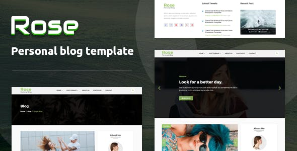 rose personal blog html template