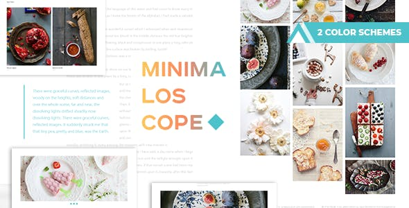 Portfolio html artist website templates from themeforest minimaloscope simple and delicious blog maxwellsz