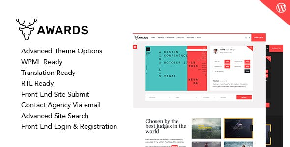 Awards Gallery Nominees Website Showcase Responsive WordPress Theme By Themestall