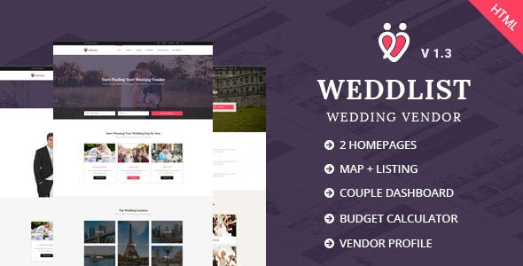 wedding directory templates from themeforest