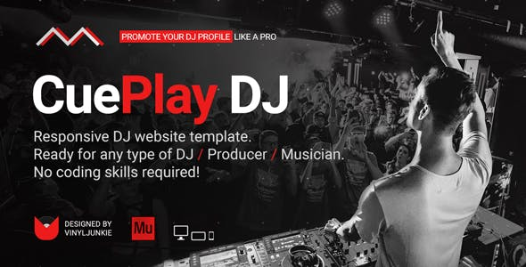 Dj Resume Personal Muse Themes Templates From ThemeForest