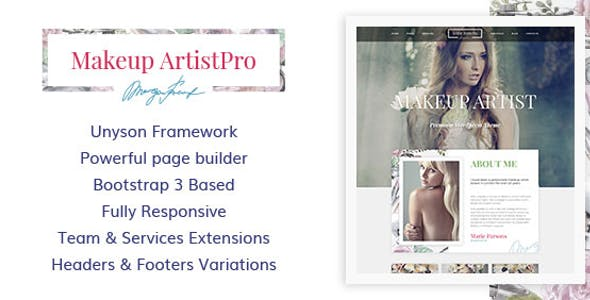 Make Up Artist Website Templates From ThemeForest