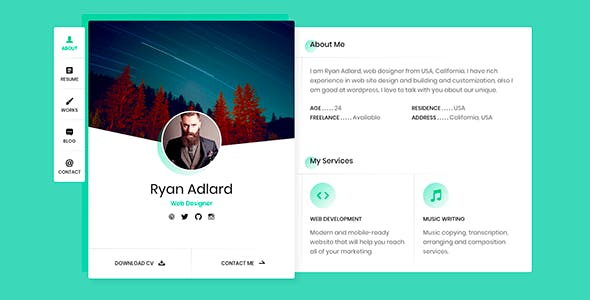 Magnificent business card website template contemporary business html business card website templates from themeforest website business card template colourmoves