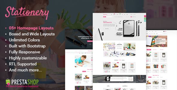 Stationery Website Templates From ThemeForest