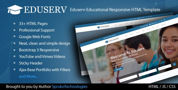 free education html website templates from themeforest