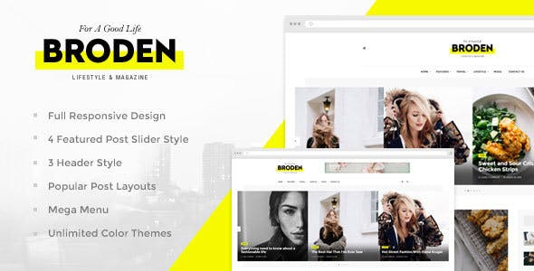 Lifestyle Blog Website Templates from ThemeForest