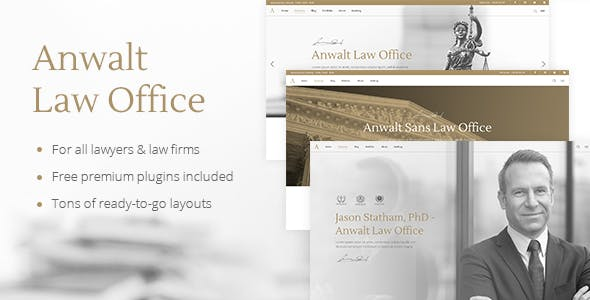Anwalt - Lawyer and Law Office Theme