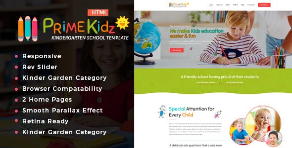 Bootstrap 3.x Kids\' HTML Website Templates from ThemeForest