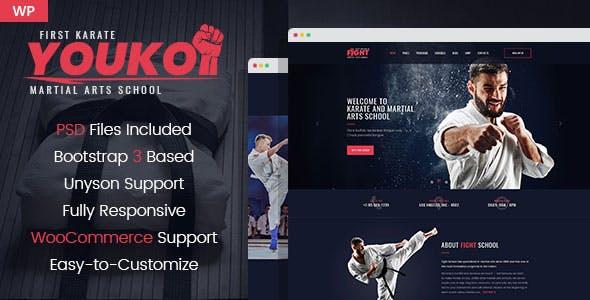 Mma templates from themeforest youko martial arts wordpress theme toneelgroepblik Choice Image