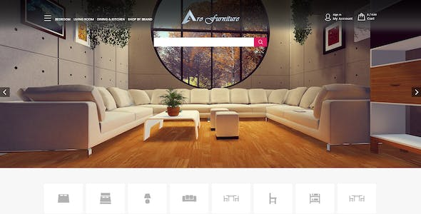 Furniture Website Templates from ThemeForest
