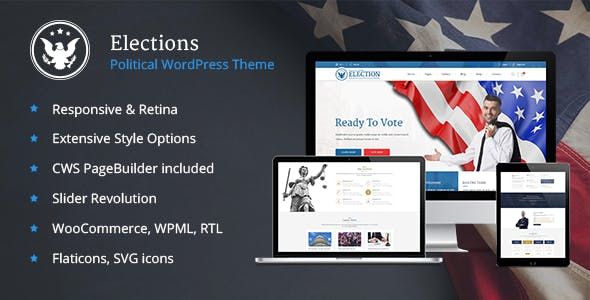 Election Website Templates from ThemeForest