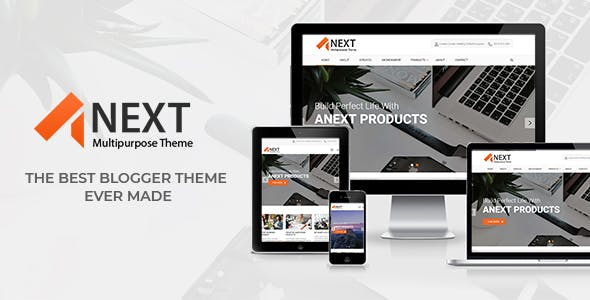 Business blogger template templates from themeforest anext responsive multipurpose blogger theme wajeb Choice Image