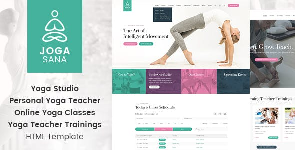 yoga studio templates from themeforest