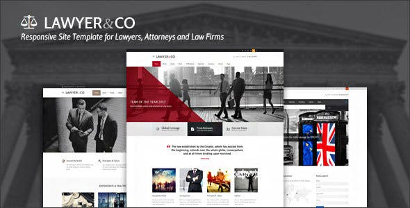 Lawyer&Co | Responsive Site Template for Law-Related Companies