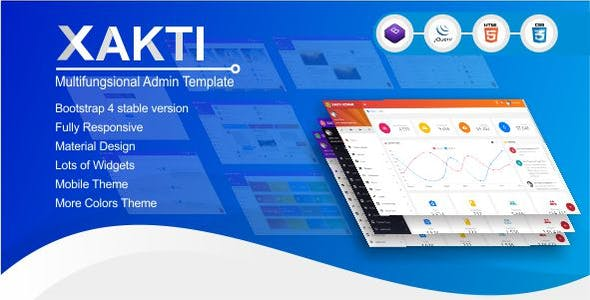 Mobile app html admin website templates from themeforest xakti multifungsional bootstrap 4 admin template malvernweather Choice Image