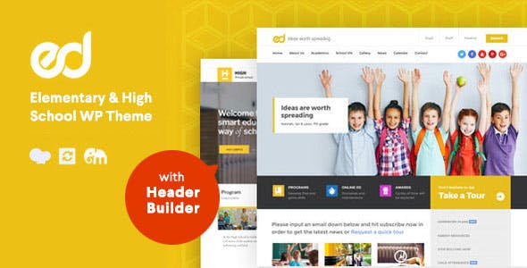 School Website Templates from ThemeForest