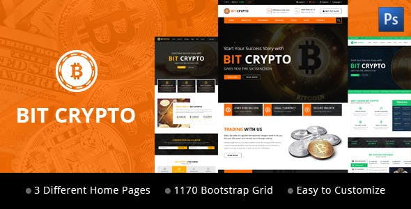 Coin Table PSD Files and Photoshop Template from ThemeForest