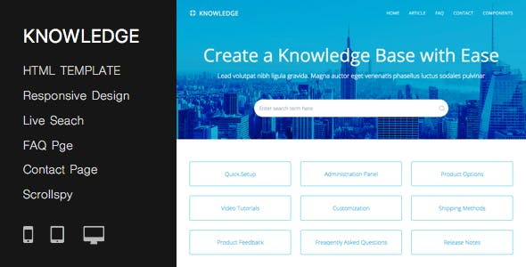 Wiki templates from themeforest responsive knowledge base faq html template maxwellsz